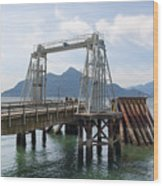 Ferry Dock And Pier At Porteau Cove Wood Print