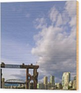 Ferry Dock At Granville Island In British Columbia Wood Print
