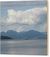 Ferry From Cortes Island Wood Print