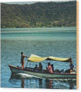 Ferry - Lago De Coatepeque - El Salvador I Wood Print