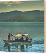 Ferry - Lago De Coatepeque - El Salvador Wood Print