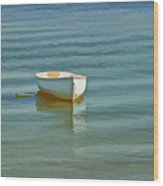 Ferry Landing Dinghy Wood Print