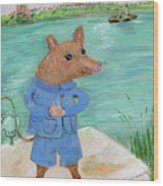 Ferry Mouse Wood Print