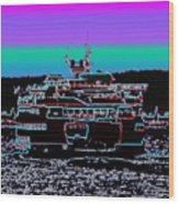 Ferry On Elliott Bay 4 Wood Print