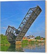Ferry St Draw Bridge Wood Print