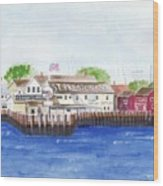 Ferry To Greenport Wood Print