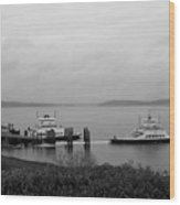 Ferry Wood Print
