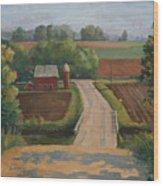 Fertile Farm Wood Print