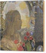 Fertility. Woman In Flowers Wood Print