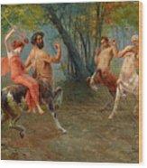 Festival Of Centaurs Wood Print