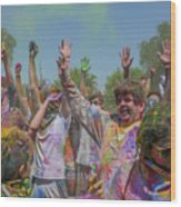 Festival Of Color Wood Print