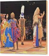 Festival Of The Lion King Wood Print