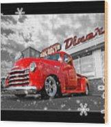 Festive Chevy Truck Wood Print