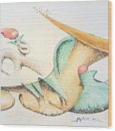 Festive Horn Wood Print
