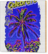 Festive Palm Wood Print