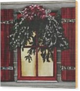 Festive Window Wood Print