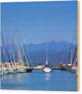Fethiye Harbour Wood Print