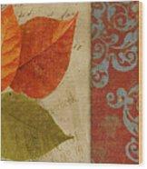 Feuilles II Wood Print