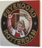 Feyenoord Rotterdam Painting Wood Print