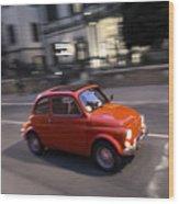 Fiat 500, Italy Wood Print