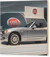 Fiat 124 Spider Wood Print