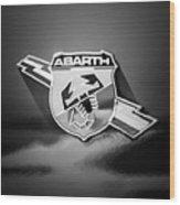 Fiat Abarth Emblem -ck1611bw2 Wood Print