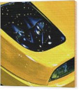 Fiat Coupe In Yellow Wood Print