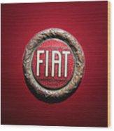 Fiat Emblem -1621c Wood Print