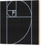 Fibonacci Spiral, Artwork Wood Print by Seymour