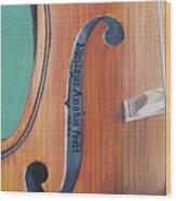 Fiddle I Wood Print