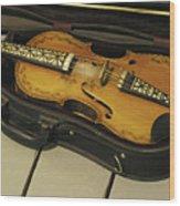 Fiddle In Case Wood Print