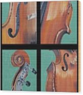 Fiddle Quartet Wood Print