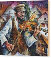 Fiddler From The Sky Wood Print