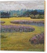 Fiddlers Ridge Marsh Wood Print