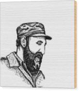 Fidel Castro Wood Print by Karl Addison