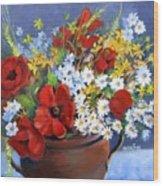 Field Bouquet Wood Print