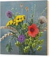 Field Flowers Wood Print