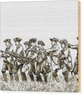 Field Of Battle Soldier Sketch Wood Print