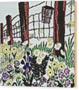 Field Of Flowers Wood Print