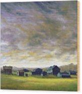 Field Of Green  18x24   Wood Print