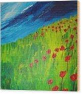 field of Poppies 2 Wood Print