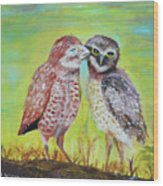 Field Owls  Wood Print