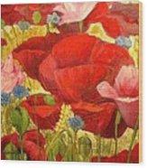 Field Poppies Wood Print