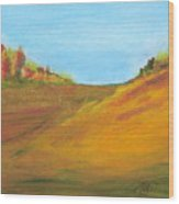 Fields In Fall Wood Print