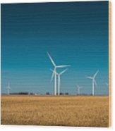 Fields Of Energy Wood Print