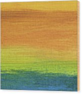 Fields Of Gold 1 - Abstract Summer Landscape Painting Wood Print