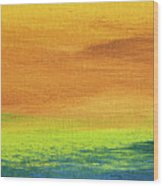 Fields Of Gold 2 - Abstract Summer Landscape Painting Wood Print