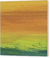 Fields Of Gold 3 - Abstract Summer Landscape Painting Wood Print