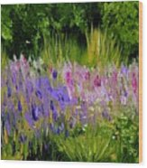 Fields Of Purple Wood Print
