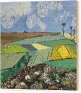 Fields To Gogh Wood Print by Martha Ressler